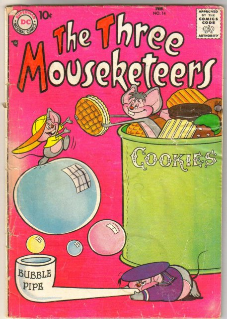 The Three Mouseketeers #14 comic book good/very good 3.0
