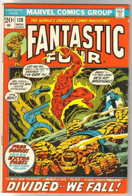 Fantastic Four #128 comic book very good/fine 5.0