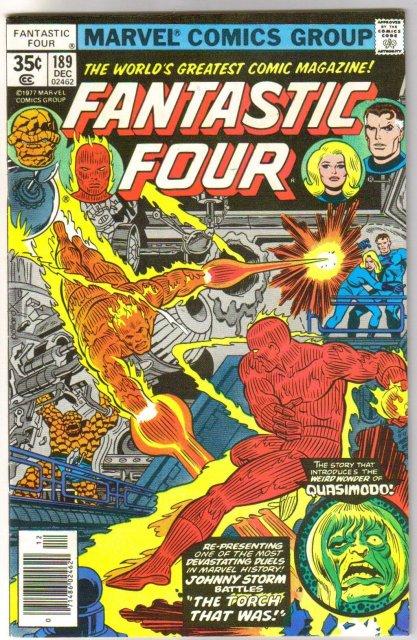 Fantastic Four #189 comic book very fine/near mint 9.0