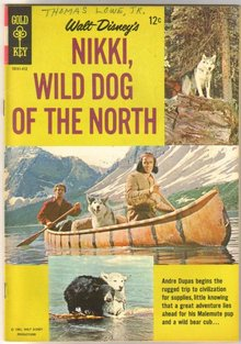 Walt Disney's Nikki, Wild Dog of the North comic book very good/fine 5.0