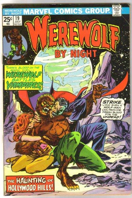 Werewolf By Night #19 comic book fine 6.0