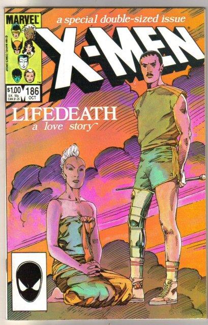 Uncanny X-Men #186 comic book near mint 9.4