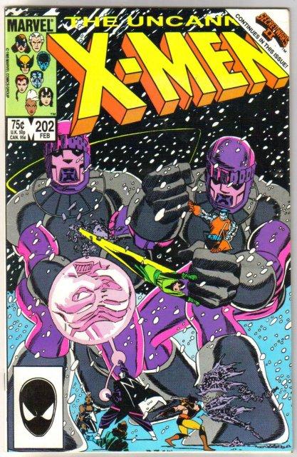 Uncanny X-Men #202 comic book near mint 9.4