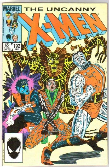 Uncanny X-Men #192 comic book near mint 9.4