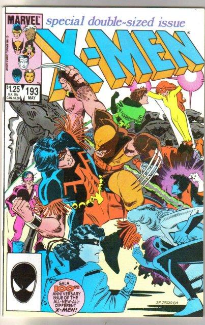 Uncanny X-Men #193 comic book mint 9.8