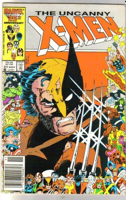 Uncanny X-Men #211 comic book very fine 8.0