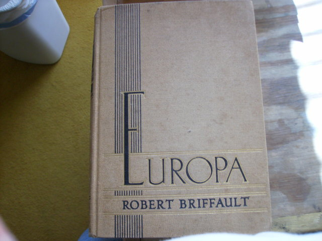 Europa hardcover original by Robert Briffault 1935