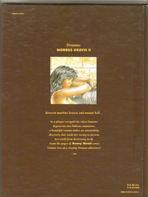 Morbus Gravis 2: Druuna Hardback graphic novel brand new mint