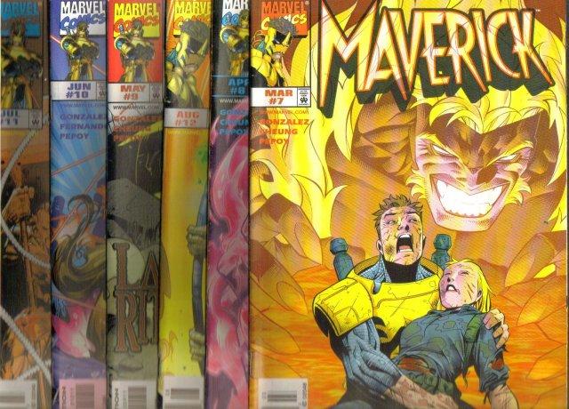 Maverick by Gonzalez original Marvel series 1 to 12 average near mint 9.4