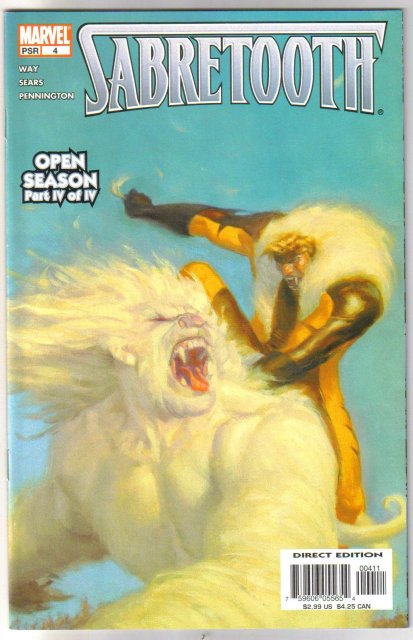 Sabretooth Open Season four issue mini series mint 9.8