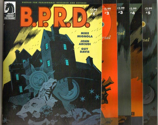 B.P.R.D.  The Universal Machine five issue set of comic books near mint 9.4