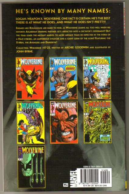 Marvel Classic 4 Wolverine trade paperback brand new mint