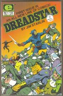 First 8 issues of Dreadstar comic books by Jim Starlin. Near mint.