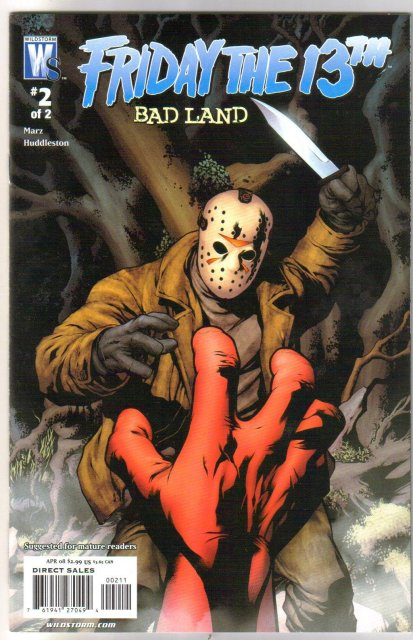 Friday the 13th Badland 2 issue comic book mini-series