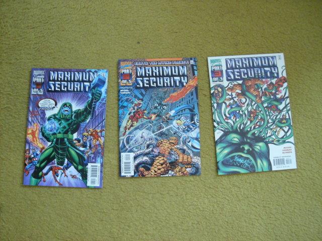 Maximum Security 3 issue mini-series mint comic books