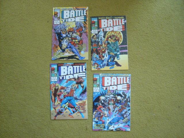Death's Head II vs Killpower in Battle Tide 4 issue mini-series near mint comic books