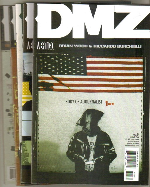 DMZ Body of a Journalist 5 issue set near mint comic books