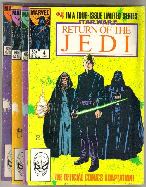 Star Wars Return of the Jedi 4 issue set near mint comic books