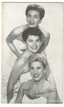 Andrews Sisters arcade card