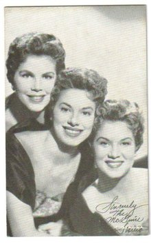 McGuire Sisters arcade card