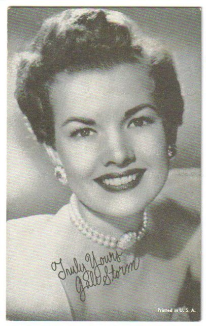 Gale Storm arcade card