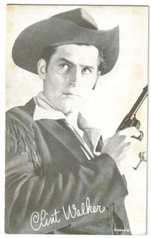 Clint Walker arcade card