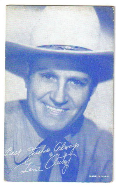 Gene Autry arcade card