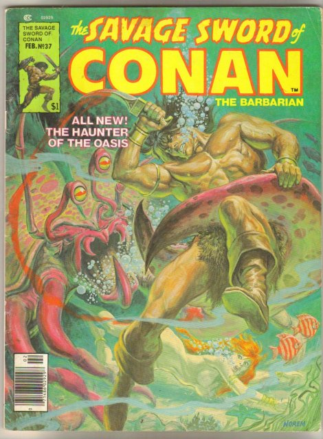 Small Savage Sword of Conan comic magazine collection of 5
