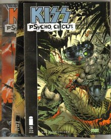 Kiss Psycho Circus 4 issue starter comic book collection