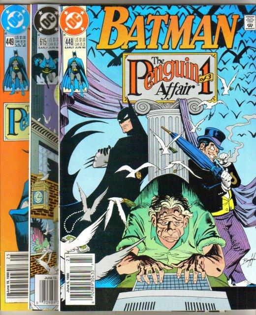 Batman The Penguin Affair three issue storyline near mint