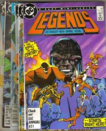 Legends 6  issue mini series all near mint