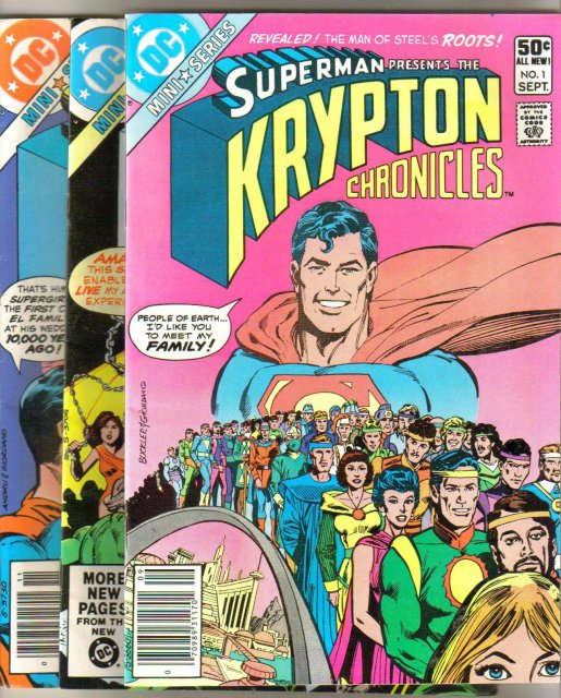 Superman Presents the Krypton Chronicles 3 issue mini series all very fine