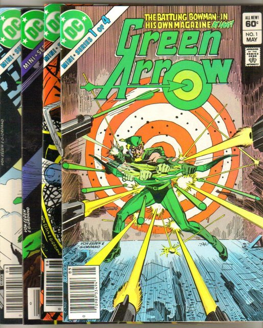 Green Arrow 4 issue mini series all near mint