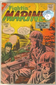 An assortment of 8 Charlton Fightin' Marines comic books