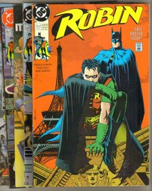 Robin complete 1991 mini-series of 5 comic books in mint condition