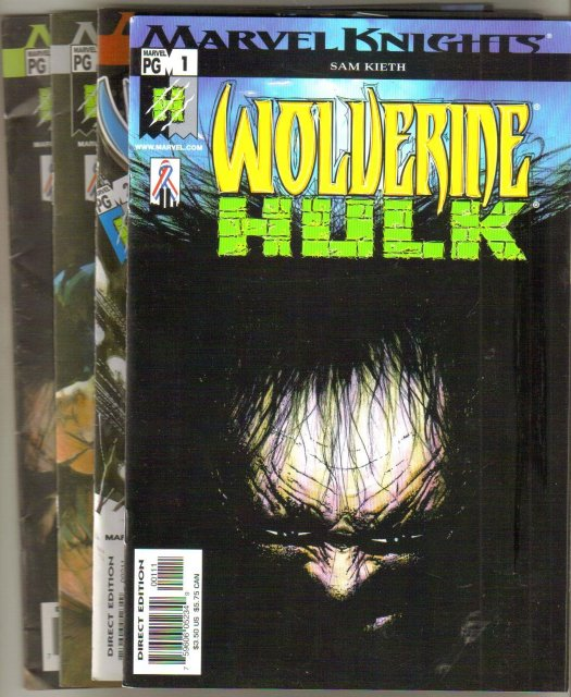 Wolverine and Hulk 4 issue mini-series by Sam Keith