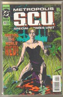 Metropolis S.C.U. Special Crimes Unit 4 issue mini-series comic books
