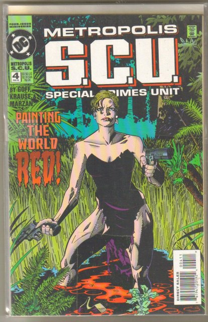 Metropolis S.C.U. Special Crimes Unit 4 issue mini-series comic books
