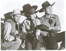 Johnny Mack Brown and co-stars black and white glossy photo 8 by 10