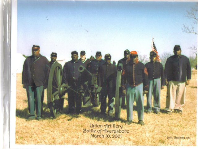 All black union artillery unit  color glossy photo 8 by 10