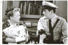 Andy Griffin show Aunt Bea and deputy black and white glossy 8 by 10 photograph