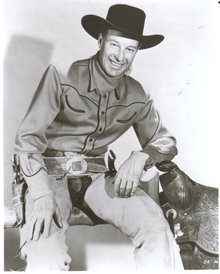 Wild Bill Elliot black and white glossy 8 by 10 photograph