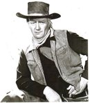 John Wayne Red River black and white glossy 8 by 10 photograph
