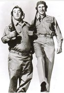 Abbott and Costello Buck Private black and white glossy 8 by 10 photograph