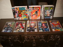 Assorted Marvel collection of 12 comic books beginning with the letter