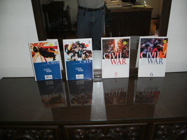 Civil War comic book assortment of 4