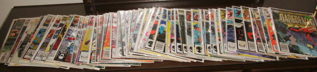 Huge Daredevil comic book collection of 60