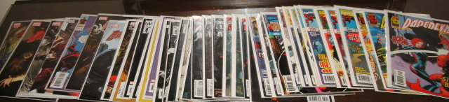 Huge Daredevil comic book collection of 40