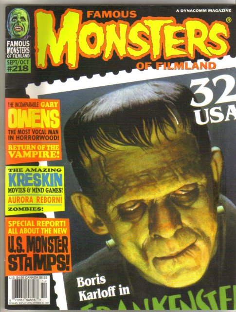 Famous Monsters of Filmland magazine #218 near mint 9.4