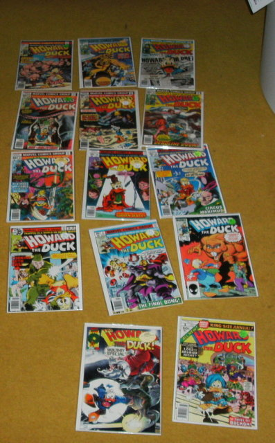 Howard the Duck comic book collection of 14